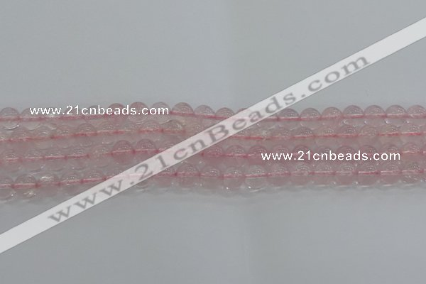 CRQ122 15.5 inches 8mm round natural rose quartz beads wholesale