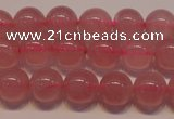 CRQ451 15.5 inche 6mm round A grade Madagascar rose quartz beads