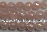 CRQ513 15.5 inches 10mm faceted round AB-color rose quartz beads