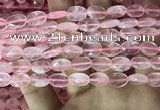 CRQ556 15.5 inches 8*12mm faceted oval rose quartz beads wholesale