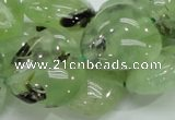 CRU109 15.5 inches 23*23mm heart green rutilated quartz beads