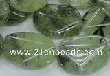 CRU114 15.5 inches 18*26mm faceted freefrom green rutilated quartz beads
