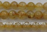 CRU611 15.5 inches 6mm round golden rutilated quartz beads