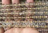 CRU630 15.5 inches 7mm round golden rutilated quartz beads