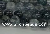 CRU860 15.5 inches 8mm round blue rutilated quartz beads