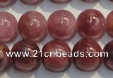 CRZ1006 15.5 inches 7mm - 7.5mm round A+ grade natural ruby beads