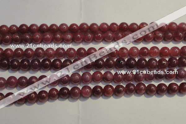 CRZ1008 15.5 inches 6mm - 6.5mm round AA grade natural ruby beads