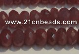 CRZ1017 15.5 inches 3*5mm faceted rondelle A grade ruby beads