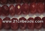 CRZ1031 15.5 inches 5*7mm faceted rondelle AAA grade ruby beads