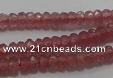 CRZ1100 15.5 inches 2*4mm faceted rondelle AAA+ grade ruby beads