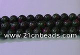 CRZ1113 15.5 inches 10mm round imitation ruby zoisite beads wholesale