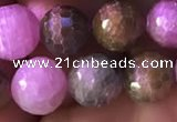 CRZ1132 15.5 inches 8mm faceted round ruby sapphire beads