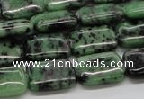 CRZ17 15.5 inches 13*18mm rectangle ruby zoisite gemstone beads
