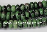 CRZ21 15.5 inches 5*10mm rondelle ruby zoisite gemstone beads