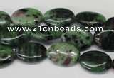 CRZ32 15.5 inches 13*18mm oval ruby zoisite gemstone beads