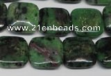 CRZ47 15.5 inches 18*18mm square ruby zoisite gemstone beads