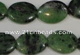 CRZ483 15.5 inches 15*20mm oval ruby zoisite gemstone beads