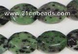 CRZ497 15.5 inches 15*20mm octagonal ruby zoisite gemstone beads