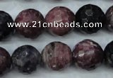 CRZ513 15.5 inches 10mm faceted round natural ruby sapphire beads