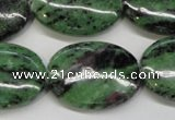 CRZ63 15.5 inches 22*30mm oval ruby zoisite gemstone beads