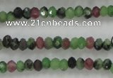 CRZ700 15 inches 2*3mm faceted rondelle ruby zoisite gemstone beads