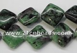 CRZ73 15.5 inches 14*14mm diamond ruby zoisite gemstone beads
