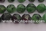 CRZ762 15.5 inches 8mm faceted nuggets ruby zoisite gemstone beads