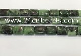 CRZ794 15.5 inches 15*20mm rectangle ruby zoisite gemstone beads