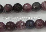 CRZ806 15.5 inches 8mm faceted round natural ruby sapphire beads