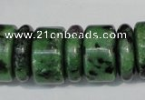 CRZ84 15.5 inches 5*16mm & 10*16mm rondelle ruby zoisite gemstone beads