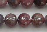 CRZ854 15.5 inches 10mm faceted round natural ruby gemstone beads