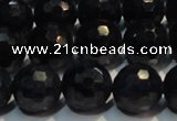 CRZ967 15.5 inches 7mm – 7.8mm faceted round AA grade sapphire beads
