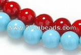 CSB09 16 inches 14mm round shell pearl beads Wholesale