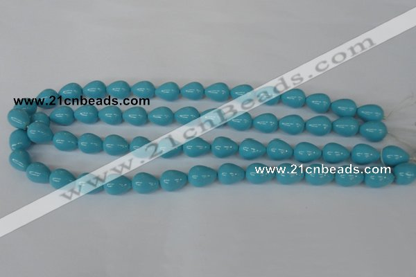 CSB105 15.5 inches 10*13mm teardrop shell pearl beads wholesale
