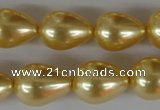 CSB113 15.5 inches 15*19mm teardrop shell pearl beads wholesale