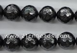CSB1185 15.5 inches 10mm faceted round shell pearl beads