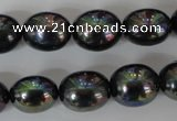 CSB124 15.5 inches 12*15mm rice shell pearl beads wholesale