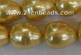 CSB130 15.5 inches 18*22mm nuggets shell pearl beads wholesale