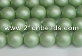 CSB1391 15.5 inches 6mm matte round shell pearl beads wholesale