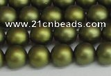 CSB1398 15.5 inches 10mm matte round shell pearl beads wholesale