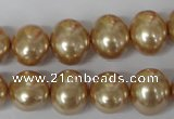 CSB142 15.5 inches 12*15mm – 13*16mm oval shell pearl beads
