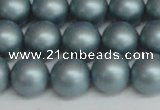 CSB1438 15.5 inches 10mm matte round shell pearl beads wholesale