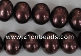 CSB149 15.5 inches 12*15mm – 13*16mm oval shell pearl beads