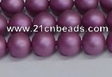 CSB1632 15.5 inches 8mm round matte shell pearl beads wholesale