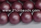 CSB1644 15.5 inches 12mm round matte shell pearl beads wholesale