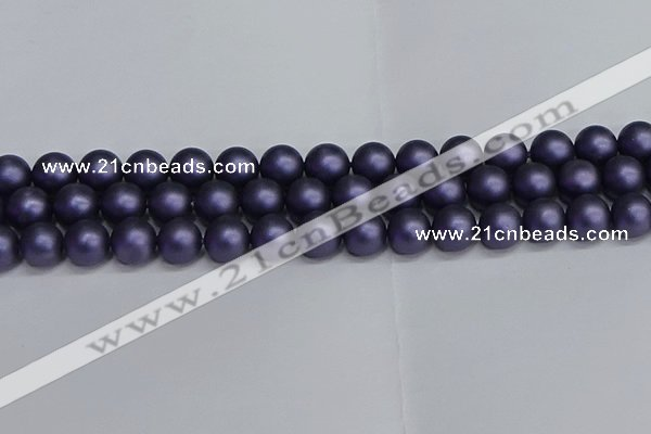CSB1654 15.5 inches 12mm round matte shell pearl beads wholesale