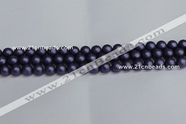 CSB1662 15.5 inches 8mm round matte shell pearl beads wholesale