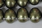 CSB167 15.5 inches 15*18mm – 16*19mm oval shell pearl beads