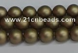 CSB1671 15.5 inches 6mm round matte shell pearl beads wholesale