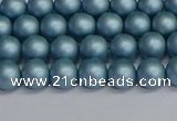 CSB1711 15.5 inches 6mm round matte shell pearl beads wholesale